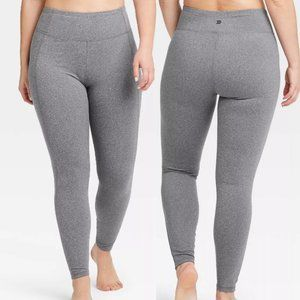 🌌2/$20 All In Motion Gray Mid-Rise Leggings XL